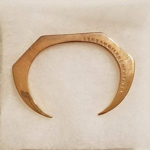 Giles & Brother Skinny Hex Cuff Gold Bracelet
